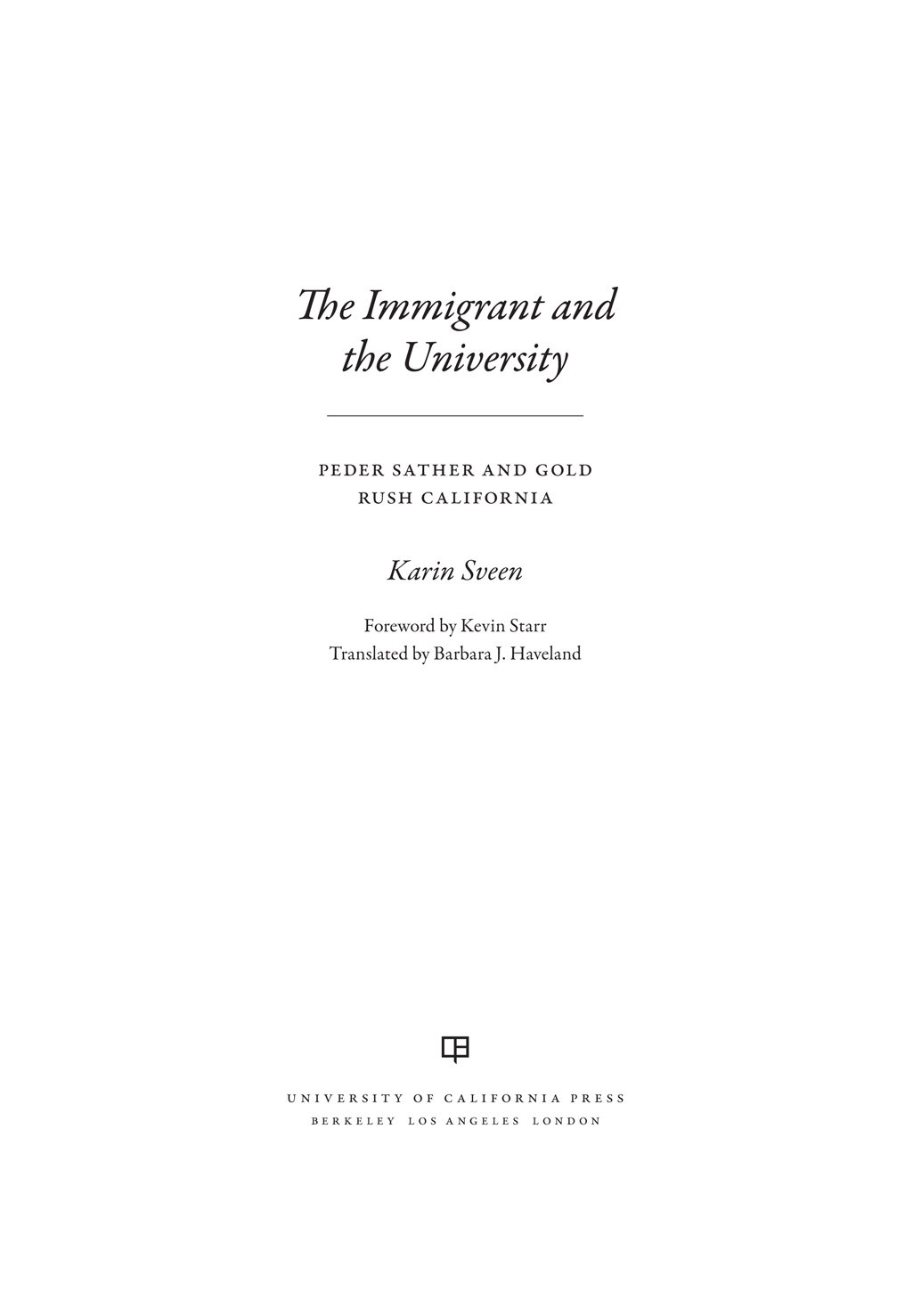 The Immigrant and the University