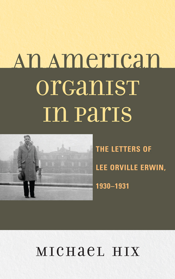 An American Organist in Paris