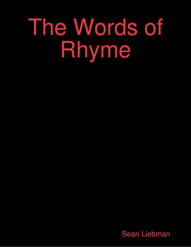 The Words of Rhyme