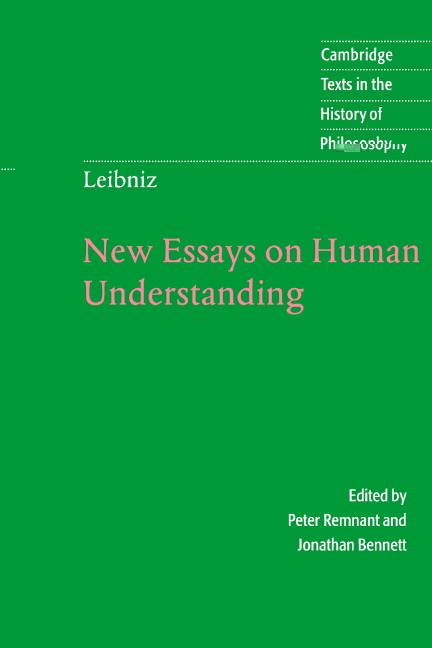 leibniz new essays concerning human understanding Leibniz's new essays concerning the human understanding: a critical exposition (dewey, john) (2017) isbn: 9781375960441 - trade paperback - online books find compare buy -.