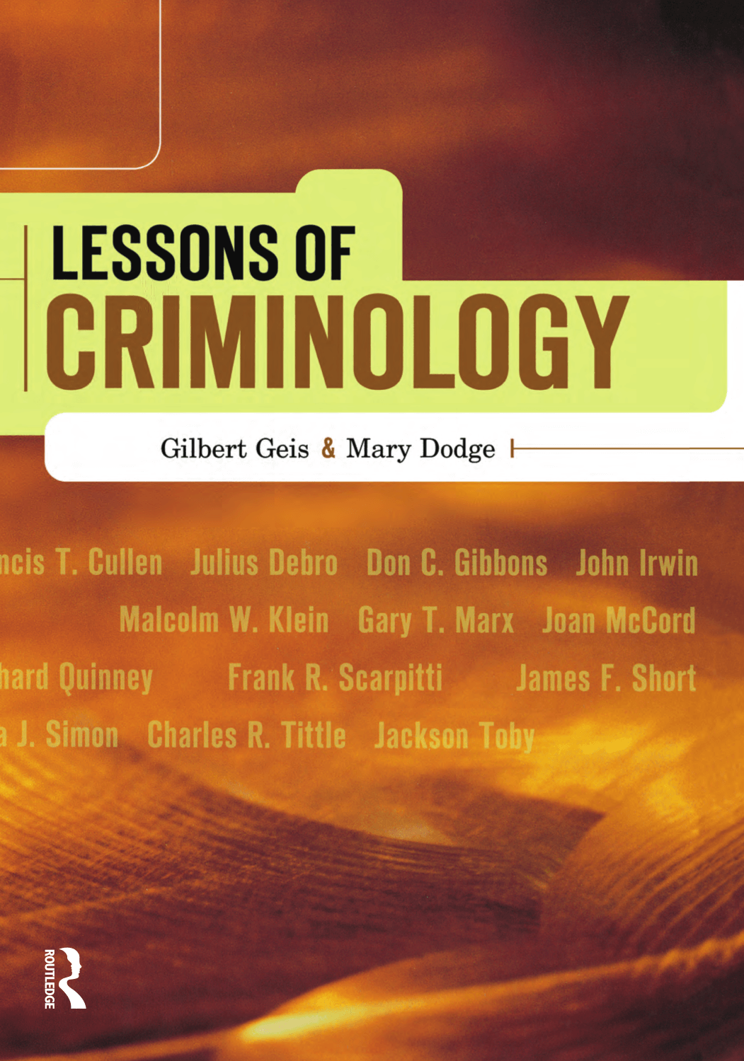criminology and francis t cullen