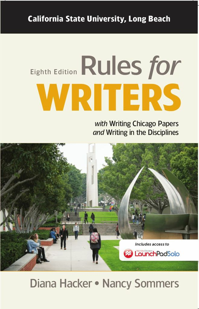 Rules for Writers for California State University, Long Beach