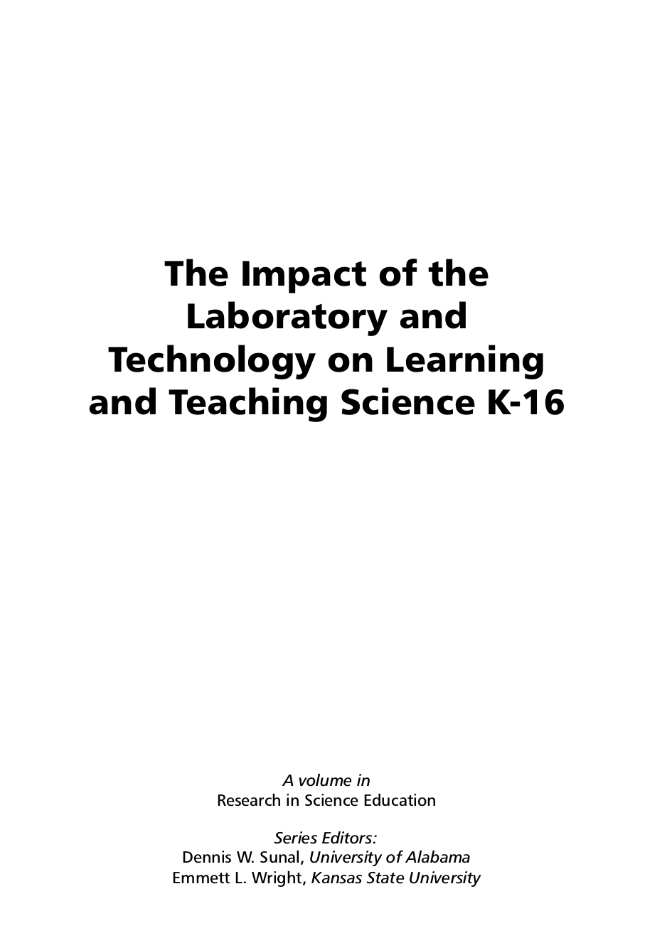 the impact technology or science on Technology in society and education 1 the effects of technology in society and education by brian p sutton spring 2013 a thesis submitted to the department of education and human development of the state.