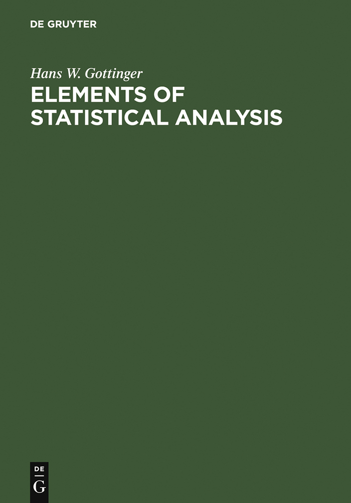 Elements of Statistical Analysis