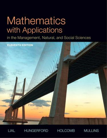 Mathematics with Applications In the Management, Natural, and Social Sciences
