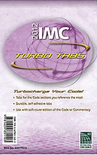 2012 International Mechanical Code Tabs (IMC)