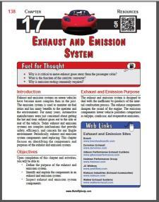 Auto Upkeep - (Chapter 17 - Exhaust and Emission System - Textbook and Workbook) 3rd Edition
