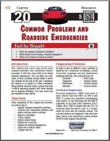 Auto Upkeep - (Chapter 20 - Common Problems and Roadside Emergencies - Textbook and Workbook) 3rd Edition