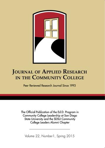 A Spring 2015 Journal of Applied Research in the Community College