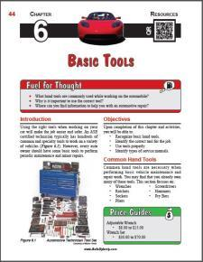 Auto Upkeep - (Chapter 6 - Basic Tools - Textbook and Workbook) 3rd Edition