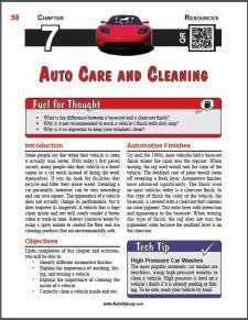 Auto Upkeep - (Chapter 7 - Auto Care and Cleaning - Textbook and Workbook) 3rd Edition