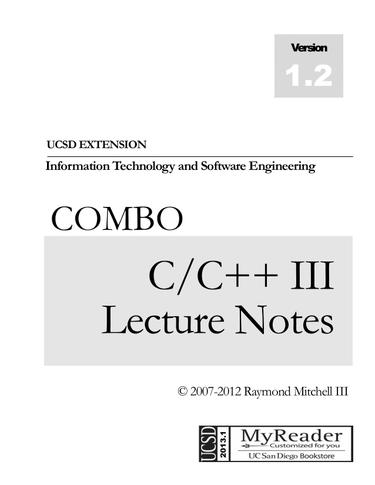 COMBO C/C++ III LECTURE NOTES (Print and Digital)