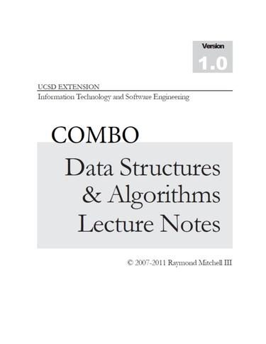 COMBO DATA STRUCTURES and ALGORITHMS LECTURE NOTES (Print  and  Digital)