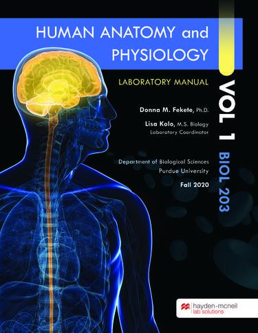 Human Anatomy and Physiology, Volume 1  BIOL 203 Laboratory Manual