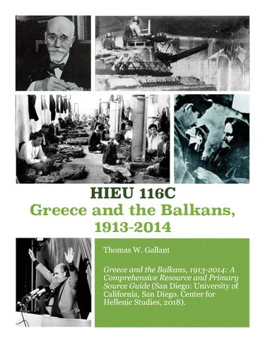 GREECE  and  THE BALKANS IN THE TWENTIETH CENTURY 1913-2014
