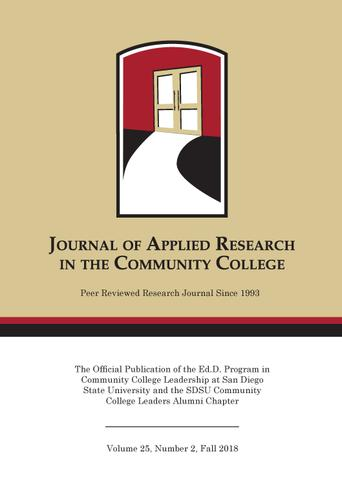 A Fall 2018 Journal of Applied Research in the Community College