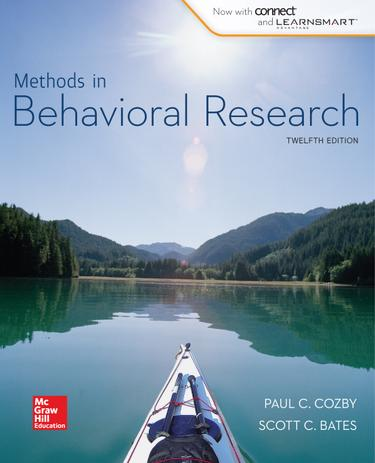 Methods in Behavioral Research, 12th edition