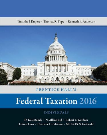 Prentice Hall's Federal Taxation 2016 Individuals