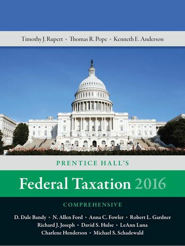 Prentice Hall's Federal Taxation 2016 Comprehensive