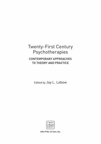 Twenty-First Century Psychotherapies