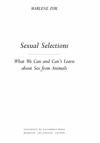 Sexual Selections