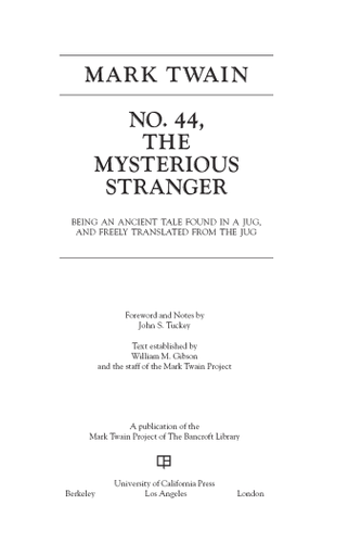 No. 44, The Mysterious Stranger