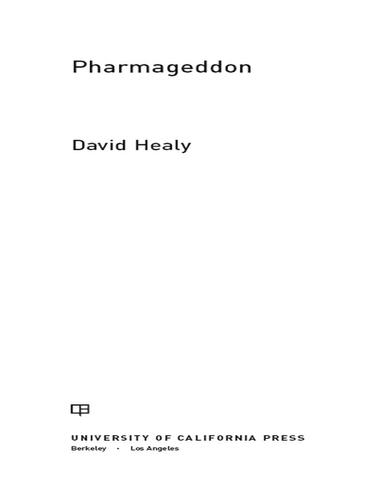 Pharmageddon 9780520270985 9780520951815 Redshelf