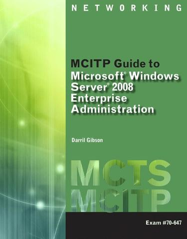 MCITP Guide to Microsoft Windows Server 2008