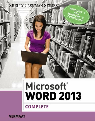 Microsoft Word 2013: Complete