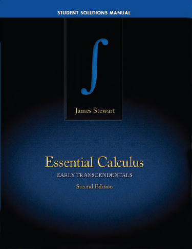 Student Solutions Manual, Ess. Calc: ET