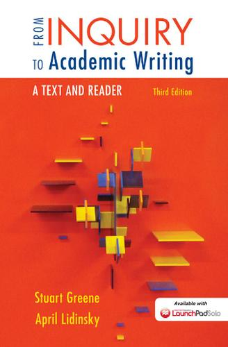 james loewen from inquiry to academic writing First-year college students are challenged by academic culture and its ways of reading, thinking, and writing that are new to themcomposition instructors are equally challenged by having to introduce, explain, and justify academic methods and conventions to students from inquiry to academic writing.