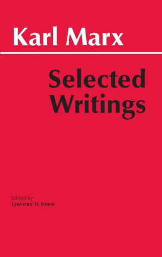 Marx: Selected Writings