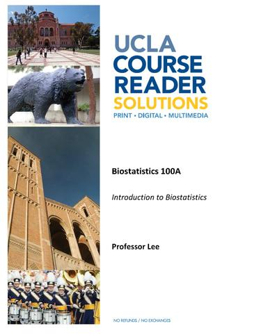 BIOS 100A - Introduction to Biostatistics