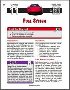 Auto Upkeep - (Chapter 11 - Fuel System - Textbook and Workbook) 3rd Edition