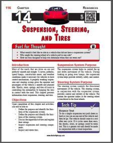 Auto Upkeep - (Chapter 14 - Suspension, Steering, and Tires - Textbook and Workbook) 3rd Editions