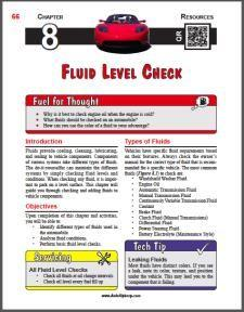 Auto Upkeep - (Chapter 8 - Fluid Level Check - Textbook and Workbook) 3rd Edition