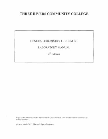 CHEM 121 Lab Manual