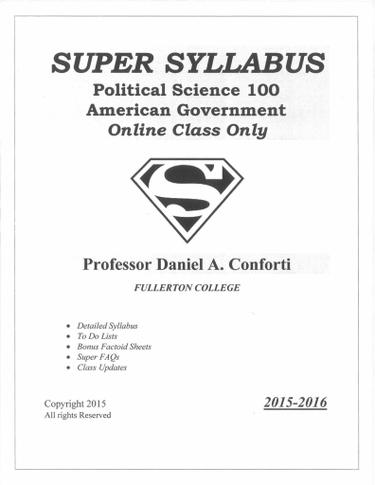 Political Science 100 Super Syllabus