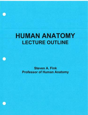 ANATOMY LECTURE OUTLINE EREADER