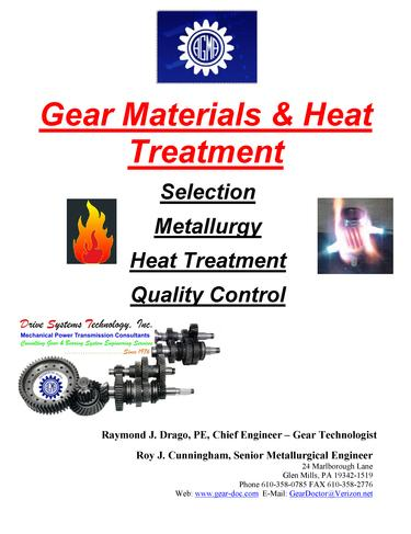 Gear Materials and Heat Treatment