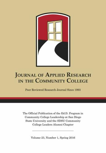 A Spring 2016 Journal of Applied Research in the Community College