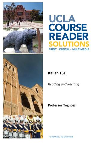 ITAL 131 - Reading and Reciting