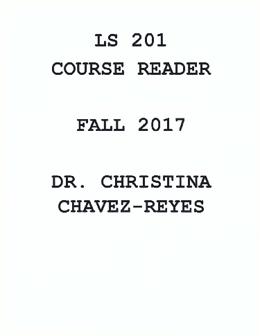 LS 201-COURSE READER FALL 2017