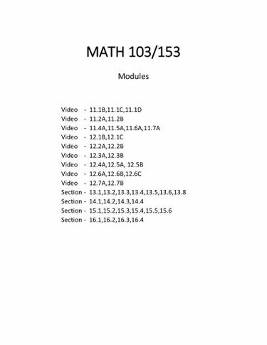 MATH 103/153 Notebook