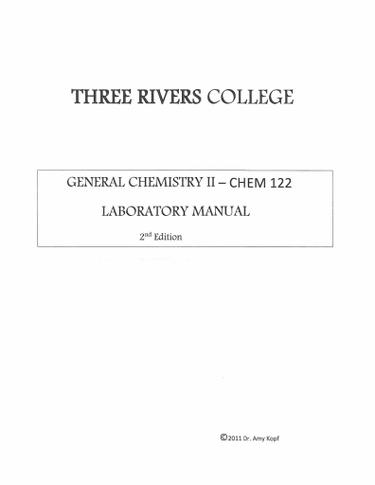 CHEM 122 - Laboratory Manual