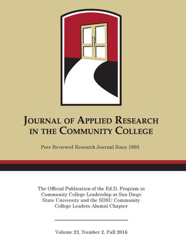 A Fall 2016 Journal of Applied Research in the Community College