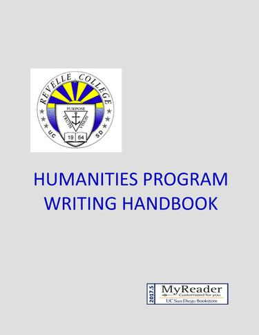 HUMANITIES PROGRAM WRITING HANDBOOK