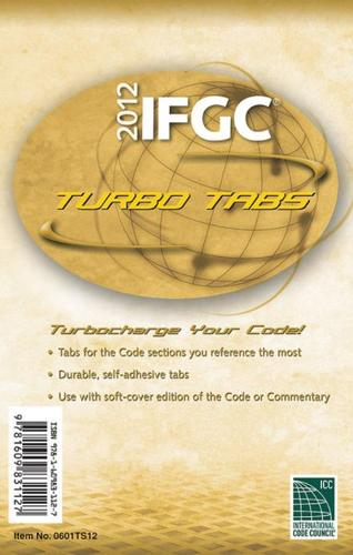2012 International Fuel Gas Code Tabs (IFGC)