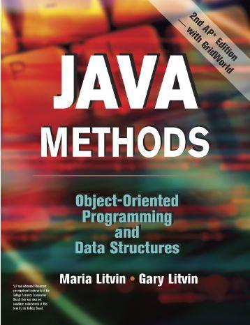 Java Methods: Object Oriented Programming and Data Structures