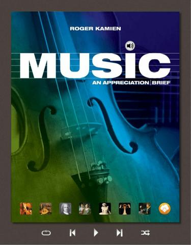 Music: An Appreciation, Brief Edition, 8th edition